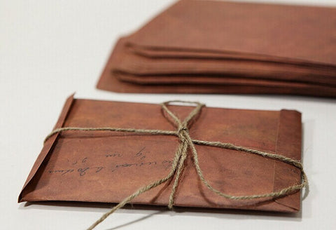 Set of vintage Envelopes // 4x6 Brown Envelopes // 5x7 Invitation Envelopes // Favor Bags/ Retro Envelopes/ A7 envelopes