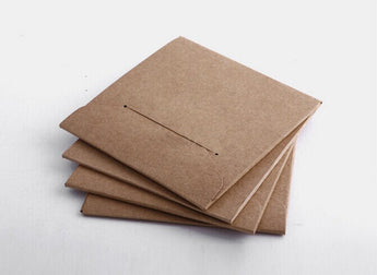 Set of CD sleeves - Kraft brown, recycled & eco-friendly - wedding favors, photography packaging diy no glue CD sleeve envelopes
