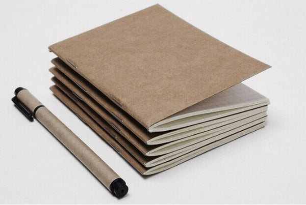 3 pcs Medium size Midori Traveler's Notebook / refillable journal / Blank kraft notebooks / refillable notebook/ notebook refill