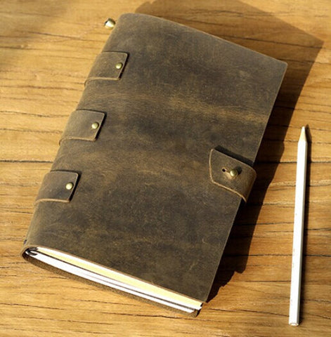 Vintage Leather Journal Diary Notebook Refillable Craft Paper with Gift Box traveler notebook/NB023