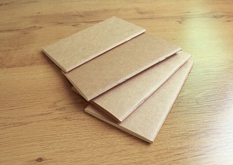 Passport size notebooks / Journal refill / Blank notebooks / Kraft notebook/ pack of 4/Midori Traveler's Notebook Paper Refill / NB040P