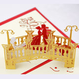 Lover bridge  Pop up card 3D card  handmade gift valentines card valentines gift