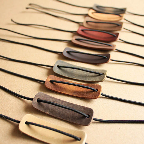 Handmade Travelers notebook accessory for Midori , leather charm closure elastic/AC023