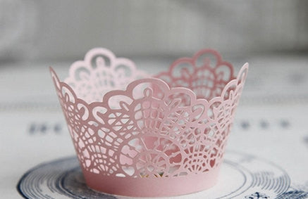 Pack of  laser cut love cat  cake cupcake wrappers for wedding party tea party cupcake decoration Grape vine wedding/ Manor wedding