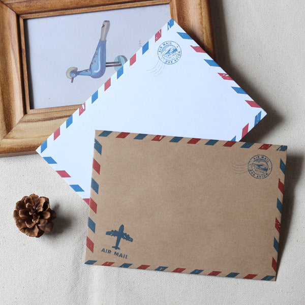 Airmail envelopes/wedding invitation envelopes/retro envelopes/brown envelope