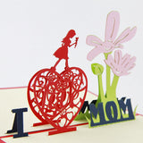 Mothers Day pop up card greeting cards for mom/ gift for mum