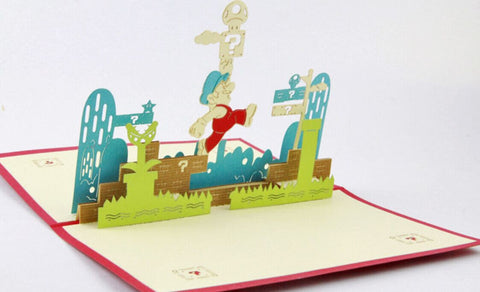 Super  Mario pop up card 3d cards