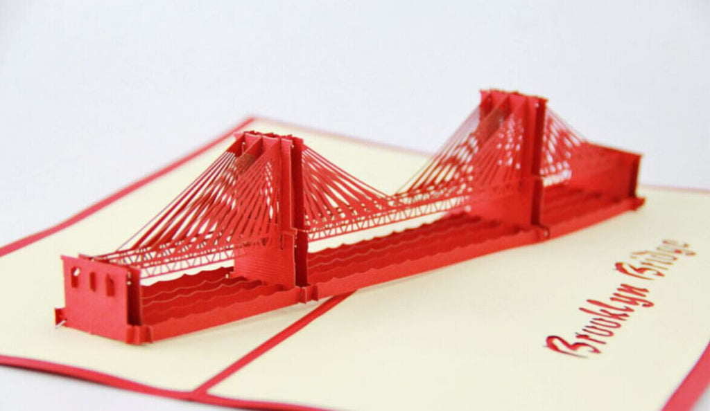 Brooklyn Bridge pop up card/ 3d New York souvenir cards