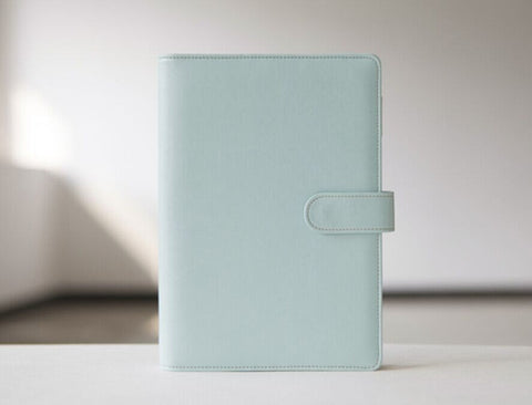 Macaroon Mint blue Journal Planner Refillable planner/ A6 A5 size