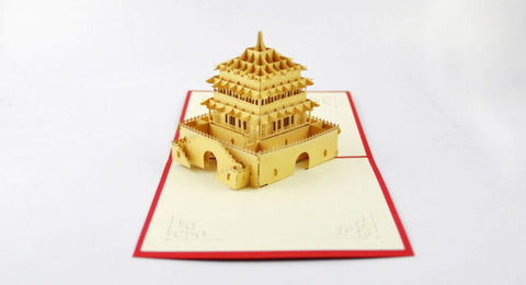 The bell tower card pop up card greeting card 3d laser cut chinese the bell tower card pop up card greeting card 3d laser cut chinese ancient building m4hsunfo
