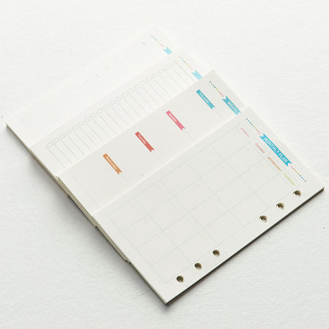 A5 Planner Insert /Filofax printed inserts /Monthly inserts /Weekly inserts / To do list / Daily grid/NB0052A5