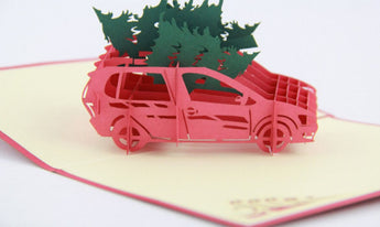 Christmas Tree happy holiday card 3d pop up card