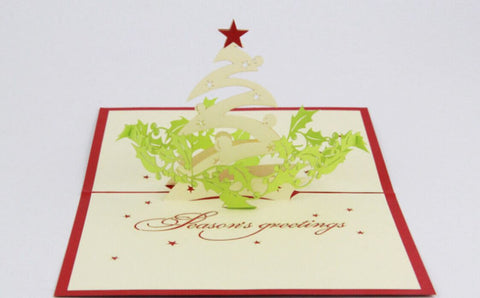 seasons greeting card Christmas Pop up card 3d handmade card