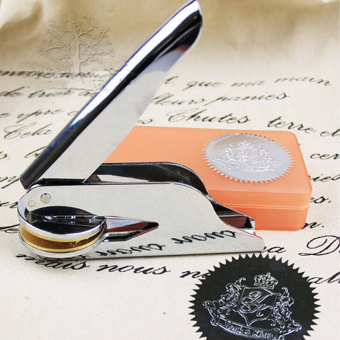 Customized Embosser Stamp / personalized embossed stamp/