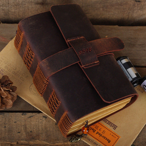 Hand made Leather Journal Handmade Journal Engraved Leather notebook journal Leather Diary handmade diary antique journal NB004