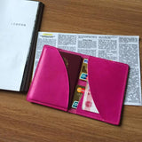 Pink leather iPhone case/ Custom phone case/woman wallet case/ iPhone wallet