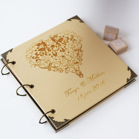 Personalized Heart Engraved Photo Album/ CPA003
