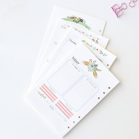 Flower A5 Filofax Printed inserts /weekly planner Refills planner inserts/monthly/daily/to do/NB050A5