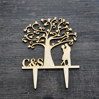 Custom Wedding Cake Design,Wedding Cake,Bridal Shower,Cakes Toppers with initials - Cake Decor Love Tree