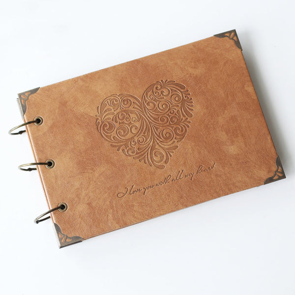 Personalized A4 Monogrammed Engraved Photo Album/ Kraft Scrapbook Album CPA004