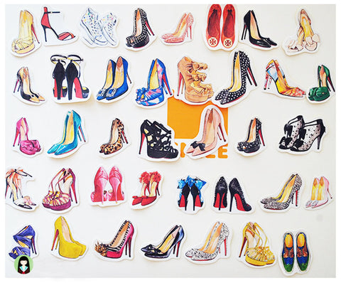 High Heels sticker 37 pcs stickers planner stickers Erin Condren die cut Retro beauty--S007