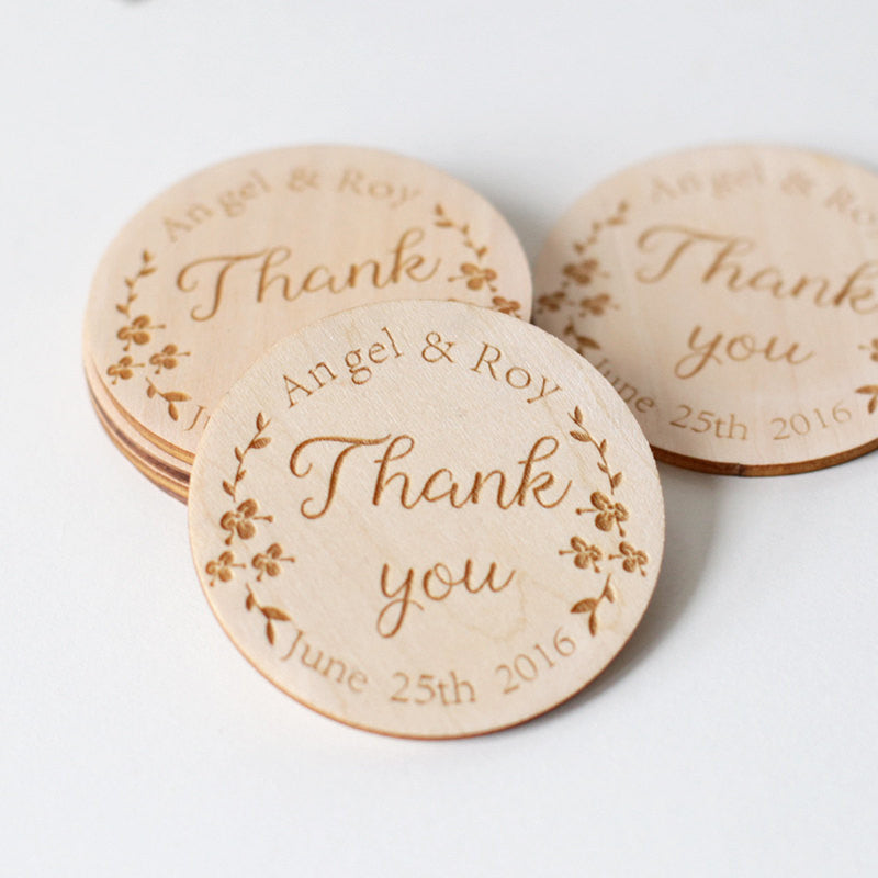 Wood Save-The-Date Magnets