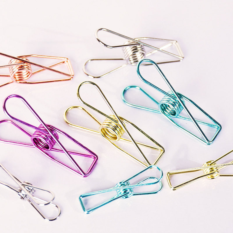 Fisherman Clips/Binder clips /Journal Paper Binder Clips 5 pcs/AC015
