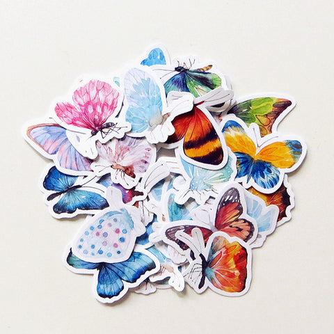 Butterfly stickers 32 pcs planner stickers Erin Condren Stickers plant stickers watercolor stickers--S019