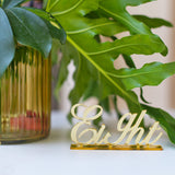 Acrylic Table Numbers mirror Gold Table number wedding stand table number decor