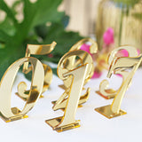 Acrylic Table Numbers mirror Gold Table number mirrir silver tabe numner Weddings Standing Numbers