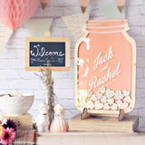 Drop Box Mason Jar Wedding Guest Book Wedding Guest Book Alternative, Rustic Wedding Sign Frame