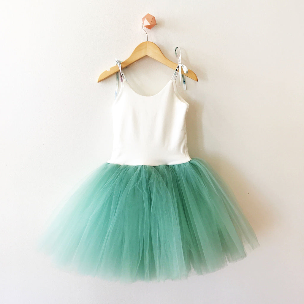 BAMBOO TUTU DRESS - SAGE (PREORDER)