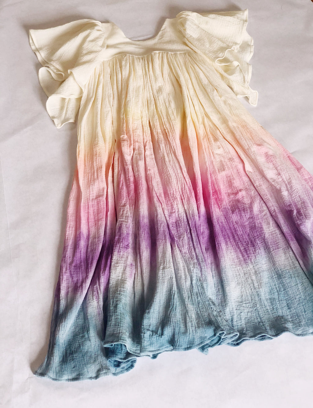 FLUTTER-BY TIE DYE DRESS (PREORDER)