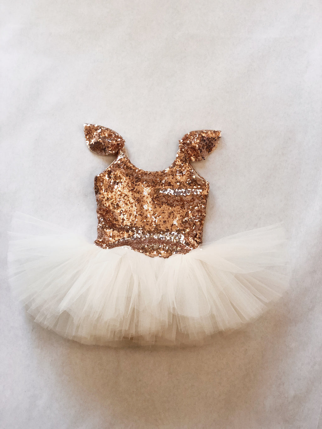 SOLID ROSE GOLD TUTU PLAYSUIT (PREORDER)