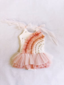 FLAMINGO RAINBOW MAGIC TUTU PLAYSUIT (PREORDER)