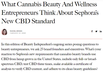 What Cannabis Beauty And Wellness Entrepreneurs Think About Sephora's New CBD Standard