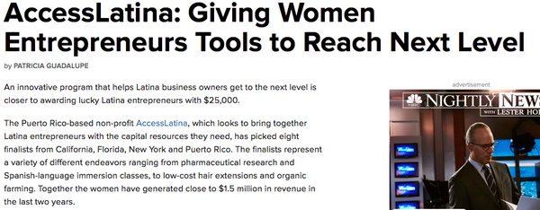 AccessLatina: Giving Women Entrepreneurs Tools to Reach Next Level