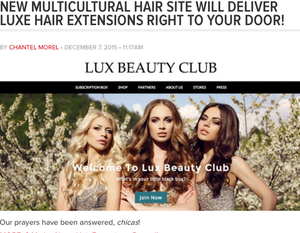Latina.com is LOVING Lux Beauty Club
