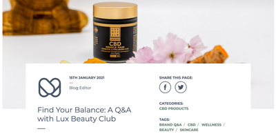 Lux Beauty Club launch in the UK with Mellow