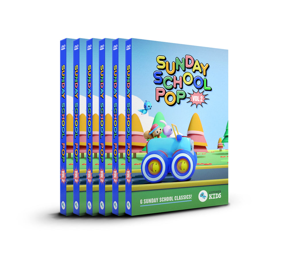 "6 DVD Bundle of ""Sunday School POP"""