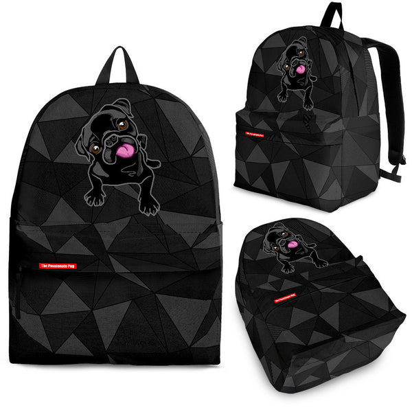 Black Pug Abstract Backpack
