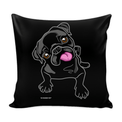 Pug Puppies Pillow Cover - thepassionatepug - Black Pug Puppy - 1
