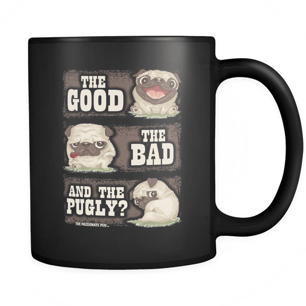 The Good The Bad And The Pugly Black Mug