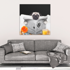 Pug News Canvas Wrap