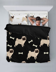 Pugs All Over Bedding Set