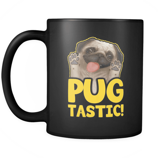 Pugtastic Black Mug - the passionate pug -  - 2