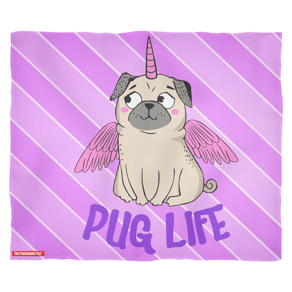 Unicorn Pug Premium Fleece Blanket