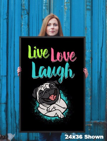 Live Love Laugh Pug Wall Art - the passionate pug -  - 3