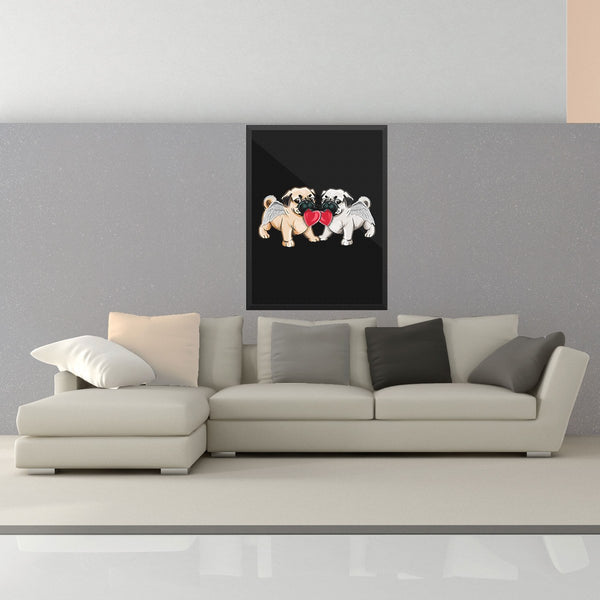 Love Pugs Wall Art - the passionate pug - 18×24 - 2