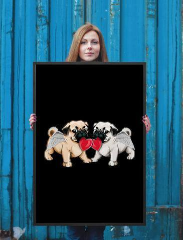 Angelic Pugs Poster
